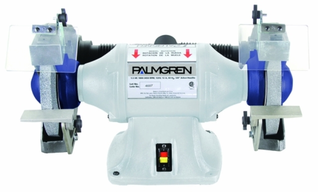 "10"" PALMGREN GRINDER W/DUST COLLECT, 1HP, 3PH, MODEL#9682102, NEW"