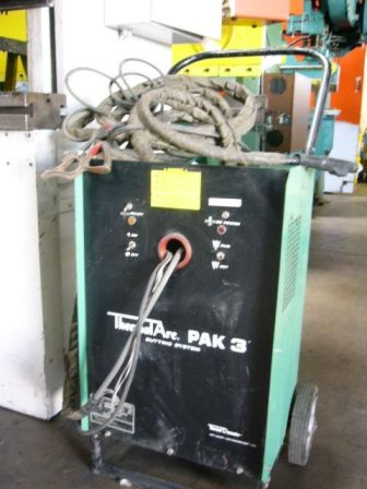"PLASMA CUTTER, THERMAL ARC, PORTABLE, 1/8"" CAP, MODEL#PAK 3, USED"