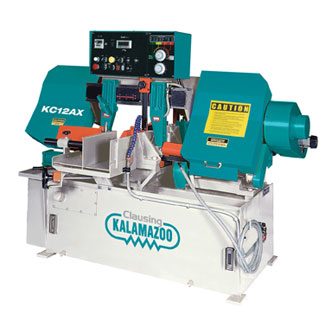 "12"", CLAUSING KALAMAZOO AUTOMATIC HORZ BANDSAW, MODEL#KC12AX, **NEW**"