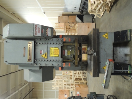 150 Ton, ROUSELLE GEARED OBS GAP FRAME PRESS, MODEL#G1-150, USED
